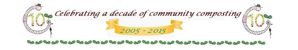 Banner - celebrating a decade of community composting.
